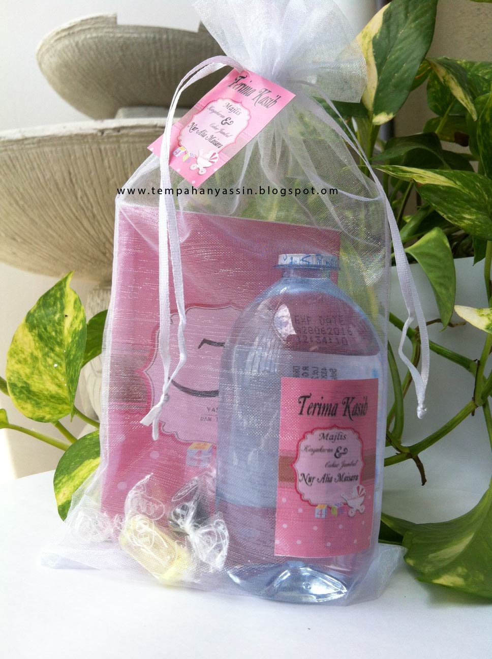 Doorgift aqiqah tempah yasin murah for Idea door gift tunang