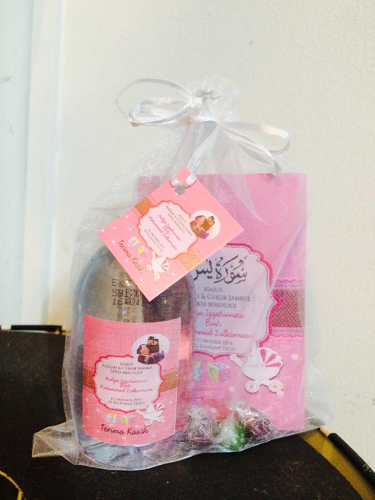 Door gift murah no curator till further notice twt for Idea doorgift untuk aqiqah