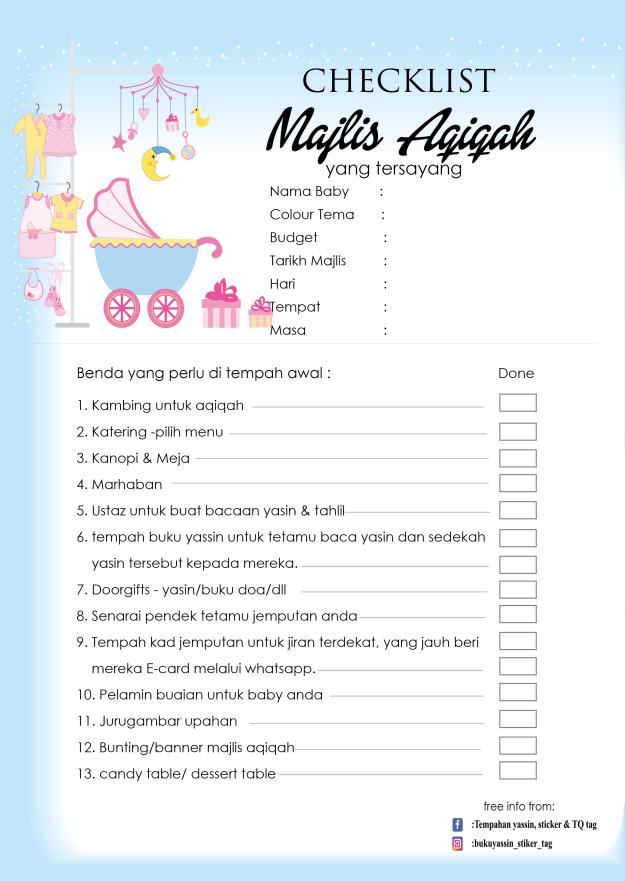 checklist-majlis-aqiqah
